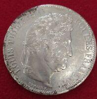 Moneda Plata Francia 5 francos  Louis Philippe 1835-W cálida EBC