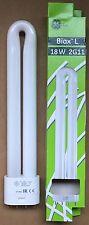 Compact Fluorescent L Type 18 Watt 2g11 4 Pin Cap Cool White 840 GE