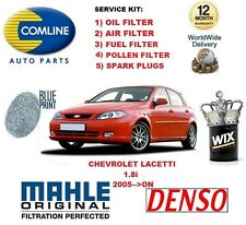 FOR CHEVROLET LACETTI 1.8 2005->ON OIL AIR FUEL POLLEN FILTER SPARK PLUGS SEVICE