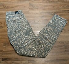 Guess Marciano Leopard Cheetah Animal Stretch Brittany Skinny Ankle Crop SZ 26