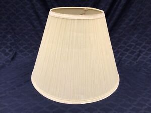 """16"""" x 12"""" Off white ivory PLEATED LAMP SHADE fabric"""