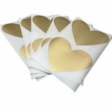 50Pcs Scratch Off Stickers 70x80mm Love Heart Shape Golden Color Games Wedding