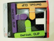 """Chef Craft Bag Clip Large 6"""" Assorted Colors Carded Pack of 3"""