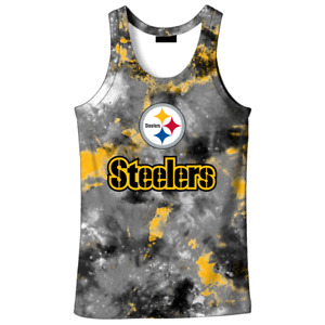Pittsburgh Steelers Men's Sports Tank Tops Gym Fitness Vest Sleeveless Shirts