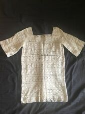 Vintage Crochet Bell Sleeved Dress - Small