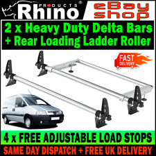 Peugeot Expert Roof Rack Bars x2 With Rear Ladder Roller Rhino For 1995-2007 Van