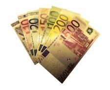 LOTE BILLETES ORO EUROS 99,9% PURE GOLD 24K + CERTIFICADO DE AUTENTICIDAD GOLD