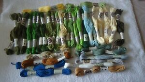 Coton Retors pour tapisserie ou broderie en lot : 35 échevettes