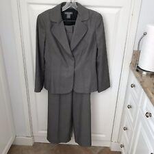 Ann Taylor Navy/White Women's Suit Sz 8 Jacket/Sz 6 Pant EUC