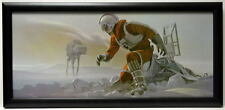 Star Wars ESB CRASHED LUKE FLEES AT-AT FRAMED CONCEPT PRINT Chiang 1980 Empire