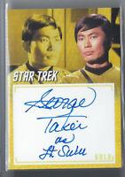 "STAR TREK ARCHIVES & INSCRIPTIONS GEORGE TAKEI ""LT. SULU"" AUTO AUTOGRAPH SP"