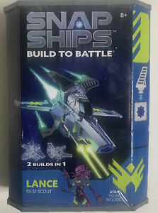 Snap Ships Lance SV-51 Scout Build to Battle 2 Builds in 1 Open Box Never Used