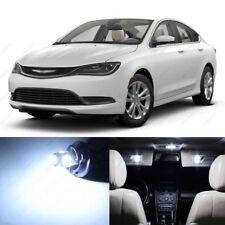 10 x White LED Interior Light Package For 2015 - 2017 Chrysler 200 + PRY TOOL