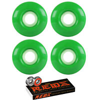 Skateboard Wheels 97A 51mm Kelly Green with BONES REDS BEARINGS