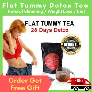 28 Day Flat Tummy Detox Tea Weight Loss Slimming Herbal Fat Bloating All Natural