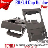 FOR Toyota Hilux Vigo SR Pickup Fortuner SUV 2004-2015 Left Cup Holder Black