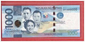 2018 F PHILIPPINES 1000 Peso NGC Duterte Espenilla Solid No. Note EF 1000000 UNC
