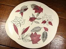 "Vtg German Staffel Limburg Echt Dom-Keramik Cake Plate Platter w Handles 12"""