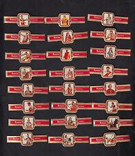Série complète de 24  Bagues  de Cigare Label Taf  BN10289 Romains