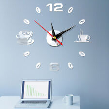 Modern Large wall Clock 3D Mirror Surface Stickers Number watch DIY Home Decor w