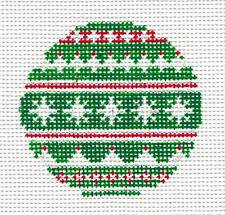 *NEW*  Needle Crossings Nordic Sweater Ornament handpainted Needlepoint Canvas
