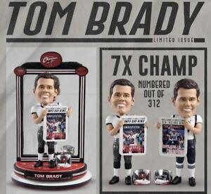 TOM BRADY 7x Super Bowl LV Champions DUAL Bobblehead New England Tampa Bay #/312