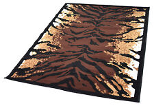 New Modern Small 60 x 110cm Animal Print Tiger Skin Area Rugs Soft Carpet Mats