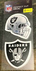 Perfect Cut Decals - Two Pack - Best Quality - Great Color - Las Vegas Raiders