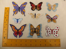 EMBROIDERED Various Butterfly Butterflies set 1 Iron On / Sew On Patch