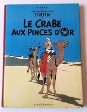 (A71) HERGE TINTIN  - LE CRABE AUX PINCES D'OR - 2e PLAT B39 1971 - COTE 18€