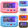 Portable Small Portable LCD Display Digital Travel Alarm Clock Automotive Snooze