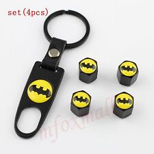 4PCS Auto Wheel Tyre Tire Valve Dust Air Cap Cover For Batman Badge Emblem Parts