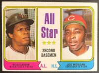 ROD CAREW/JOE MORGAN 1974 TOPPS ALL-STAR VINTAGE BASEBALL CARD #333