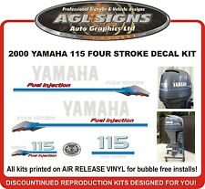 2000 YAMAHA 115 hp Four Stroke  Decal kit  Reproductions  100 hp