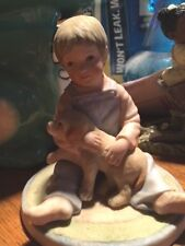 """Puppy'S Pal� 1983 Figurine by Frances Hook for Ceramica Excelsis, Roman Inc."