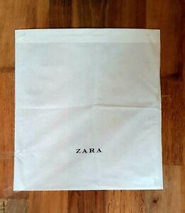 "ZARA WHITE STORAGE DUST BAG LOGO FOR SHOES SIZE MEDIUM 15"" X 14"""