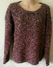 M&S Indigo Collection Claret Mohair Wool Blend Long Sleeve Jumper Size 12