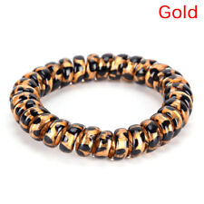5 PCS Leopard Elastic Telephone Wire Cord Head Ties Hair Band Rope PonytailBLUN