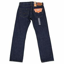 Levis 501 Button Fly Mens Jeans Authentic Many Sizes Dark Stonewash NWT