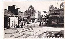 Postcard RPPC Main Street Ghost Town KNOTTS BERRY FARM BUENA PARK CA 1951