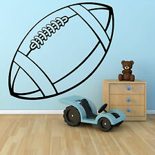 RUGBY BALL vinyl wall art sticker decal sports hall school bedroom