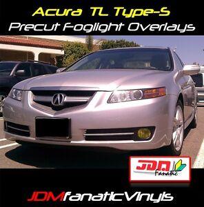 07 08 Acura TL FogLight Overlays JDM Yellow TINT Film Vinyl HID Type S PRECUT