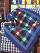 Crochet Pattern ~ COUNTRY GINGHAM AFGHAN ~ Instructions