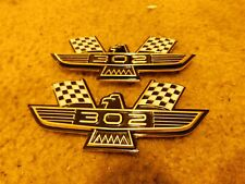 1963 1964 FORD GALAXIE 302 EAGLE PERFORMANCE BIRD EMBLEMS SET PAIR NEW VINTAGE