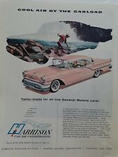 1957 Harrison car air conditioning pink Oldsmobile sedan trout fishing ad