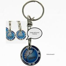 Poker Chip  SHOPPING TROLLEY Token Coin Key Ring  Fathers Day Gift Idea For Him
