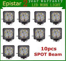 10X 27W Epistar LED Work Light Bar Spot Square Off-road SUV Truck Driving Lamp