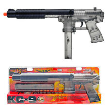"""New WAR INC 16"""" Officially Licensed KG-9 Spring Airsoft Rifle Clear Smoke 350fps"""