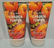 Bath & Body Works Sweet Cinnamon Pumpkin Shea & Sugar Body Scrub 8 Oz New