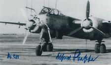 Luftwaffe Ace 18 Vic, Night Fighter NJG 102 missions Alfred Staffa SIGNED PHOTO
